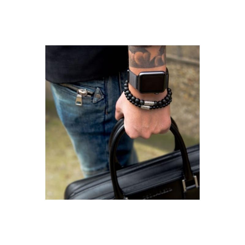 Bracelet Black Rocks 6mm -...