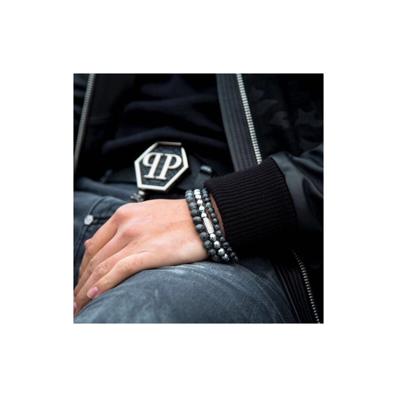 Grey Seduction 8mm stone bracelet - Rebel & Rose