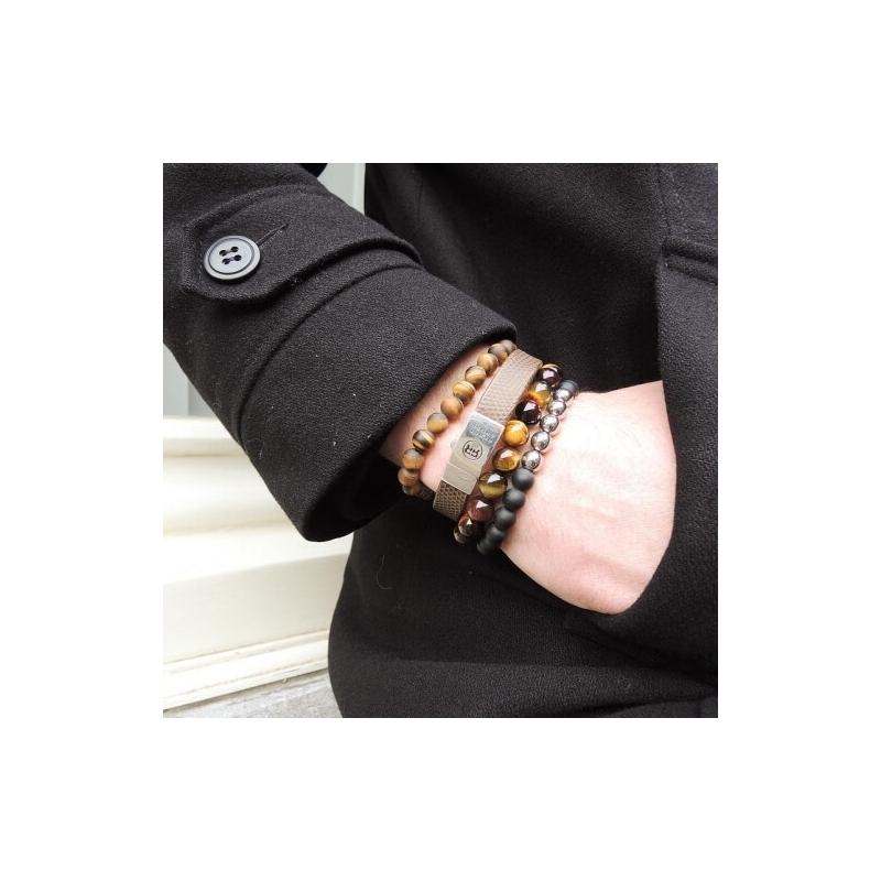 Mad Tiger Lily 8mm stone bracelet - Rebel & Rose