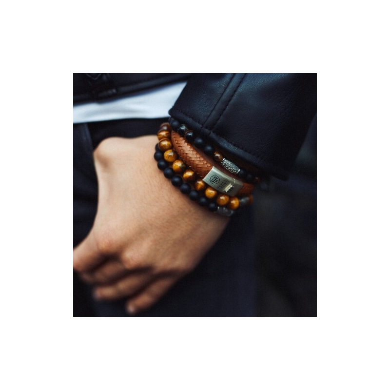 Mad Tiger Twist 8mm bracelet - Rebel & Rose