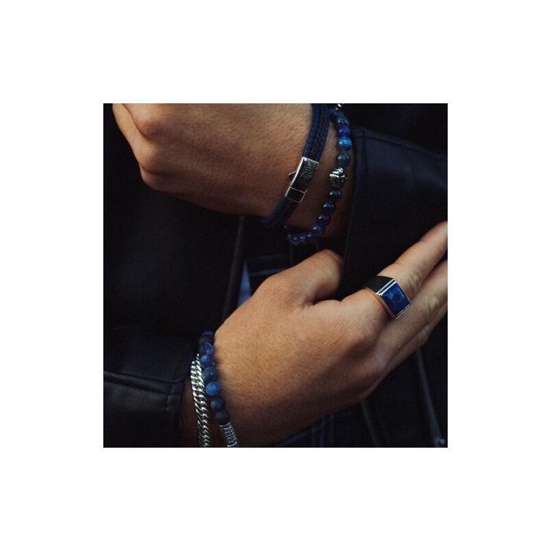 Midnight Blue II 8mm stone bracelet - Rebel & Rose