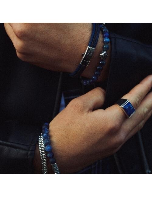 Bracelet Midnight Blue 8mm - Rebel & Rose