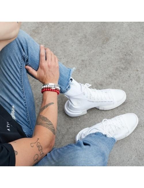 Virgin White 6mm stone bracelet - Rebel & Rose