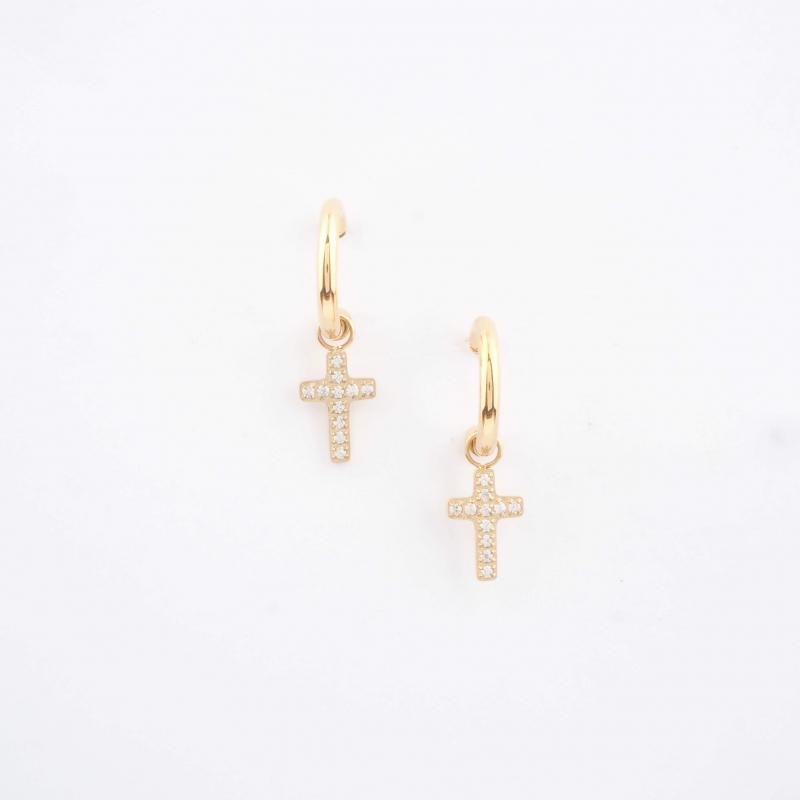 Roxane gold hoops earrings...
