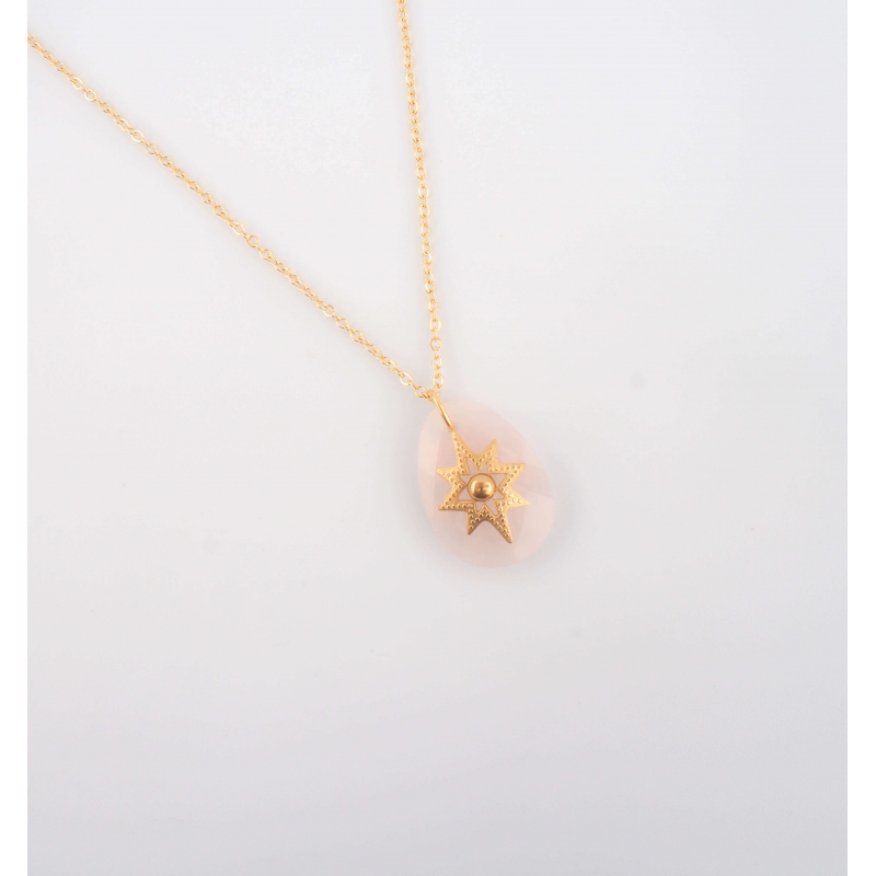 Oceane necklace in rose...