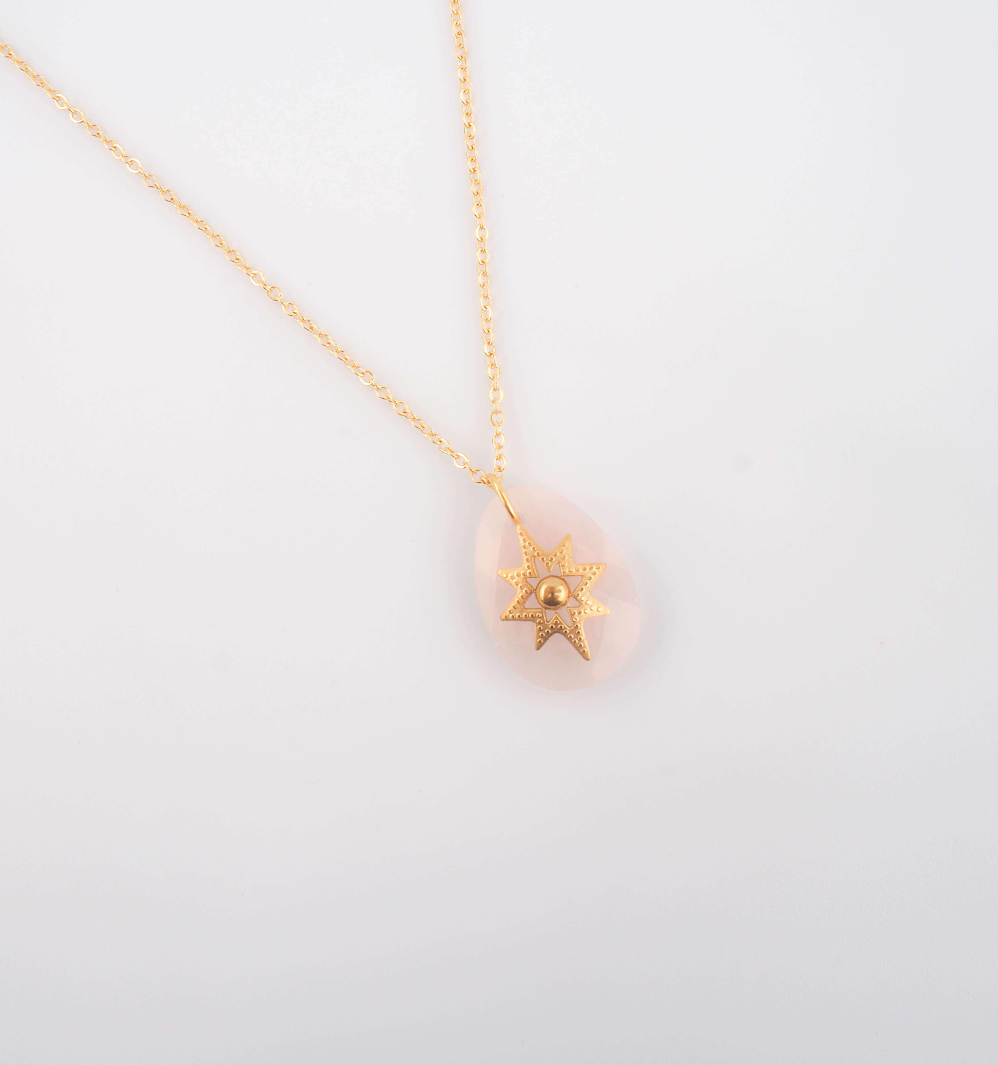 Collier Océane en quartz rose - ZAG Bijoux