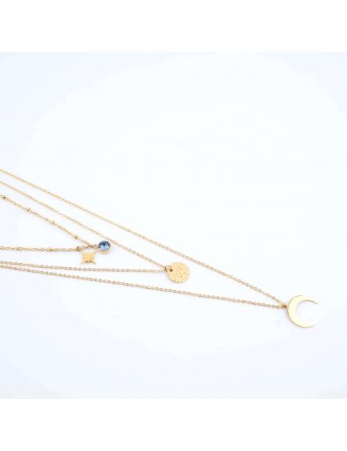 Lunar blue necklace - Bohm...