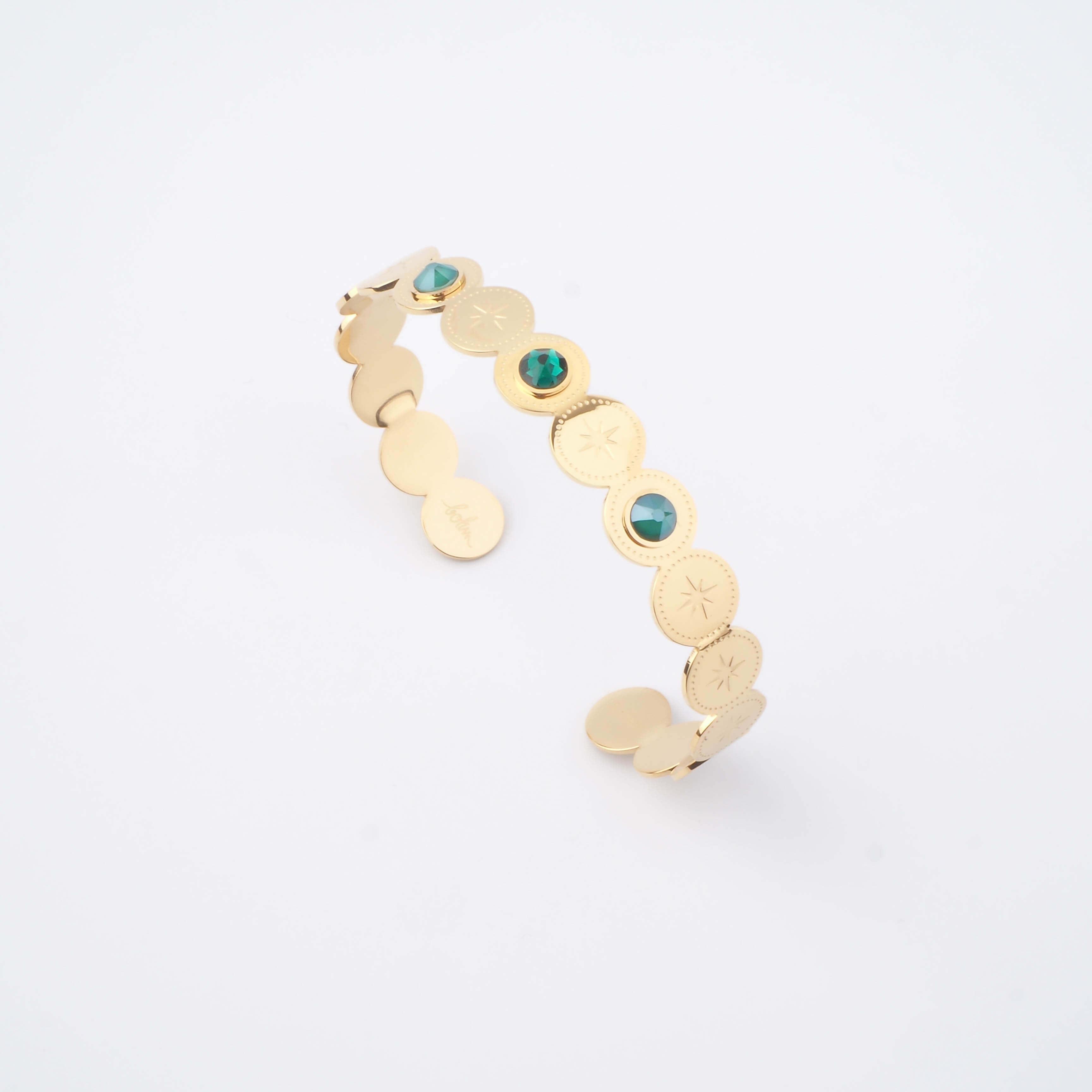 Bracelet jonc Adréline vert - Bohm Paris