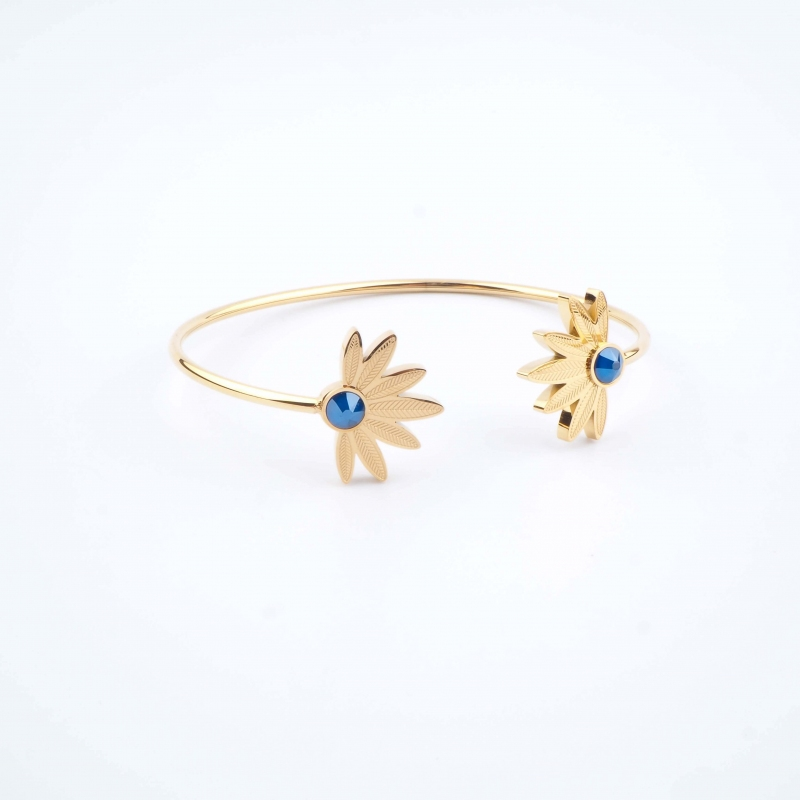 Bracelet jonc Alicia bleu -...