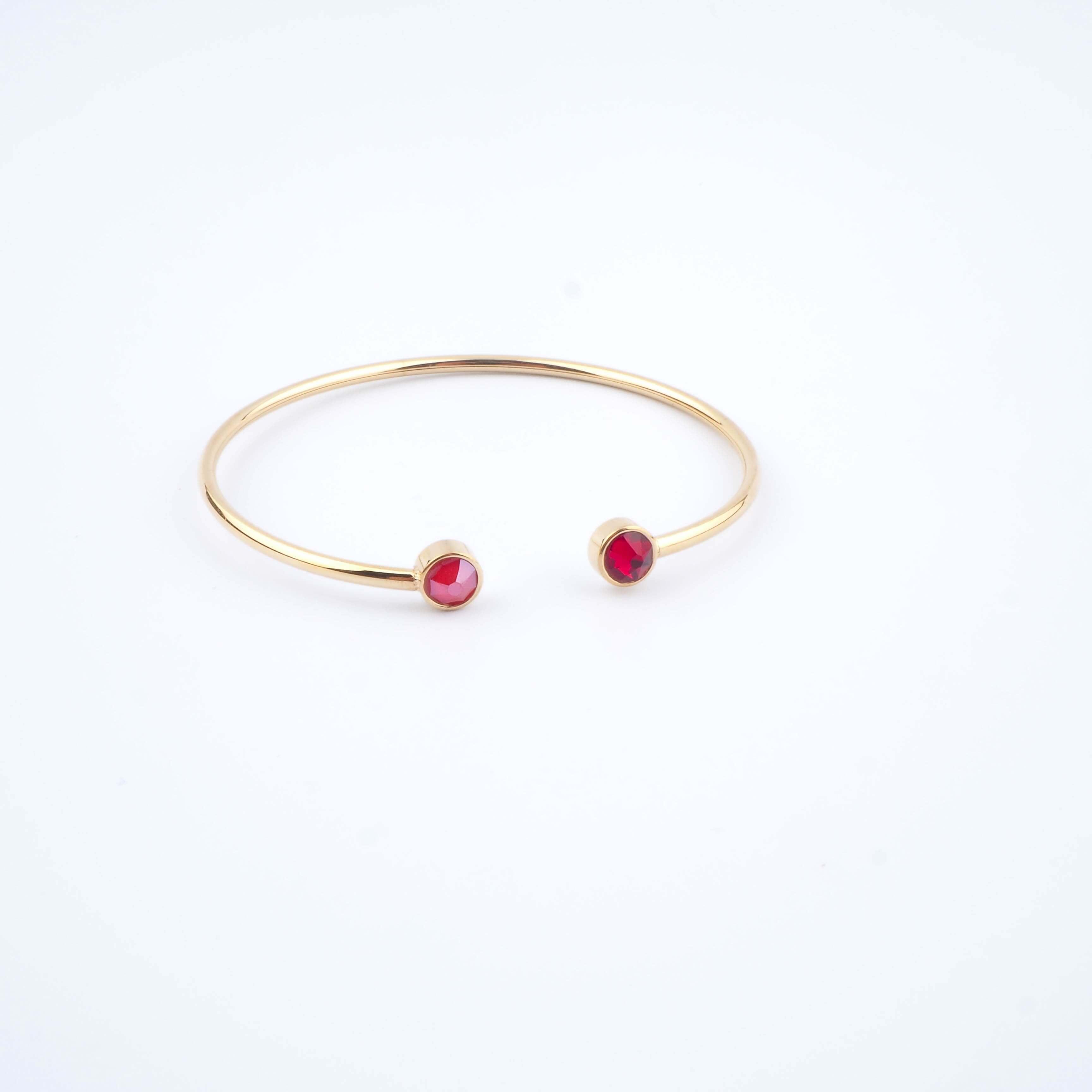 Bracelet jonc Pauline rouge - Bohm Paris
