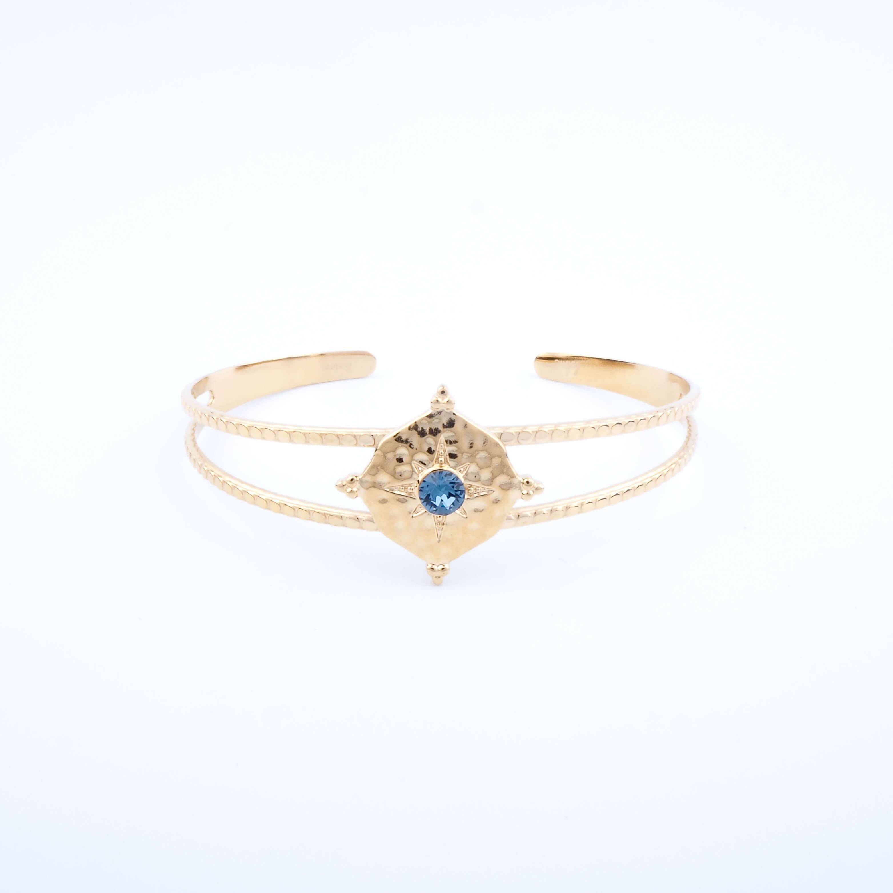 Bracelet jonc Loulita bleu - Bohm Paris