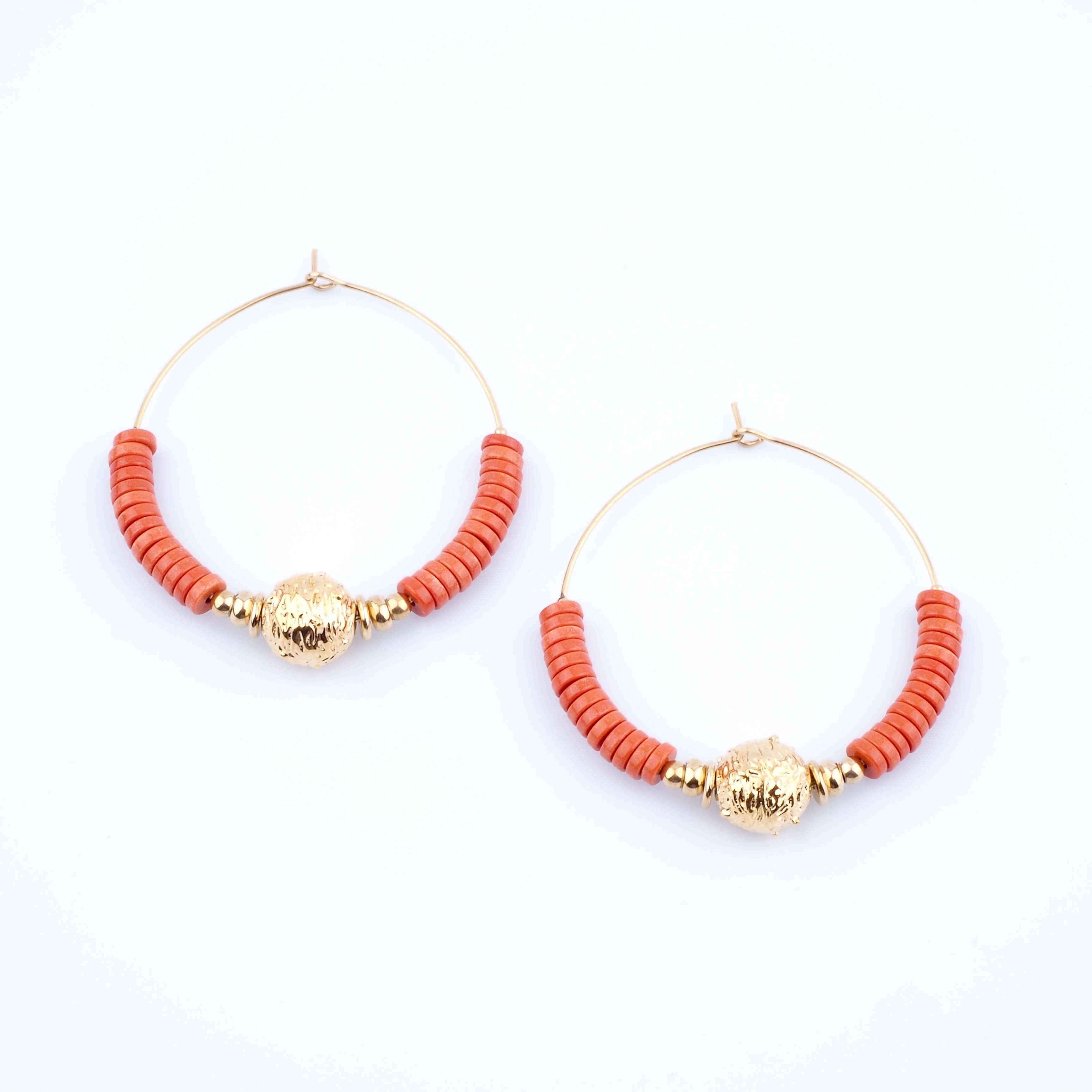 Boucles d'oreilles Sibylle rouges - Zag Bijoux