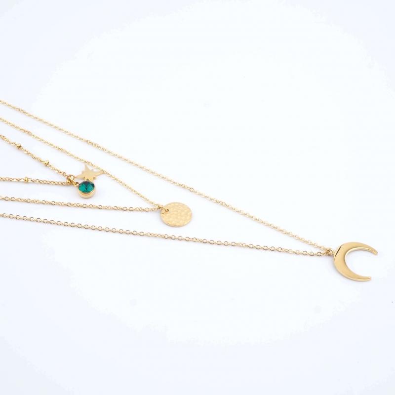Green Lunar Necklace - Bohm...