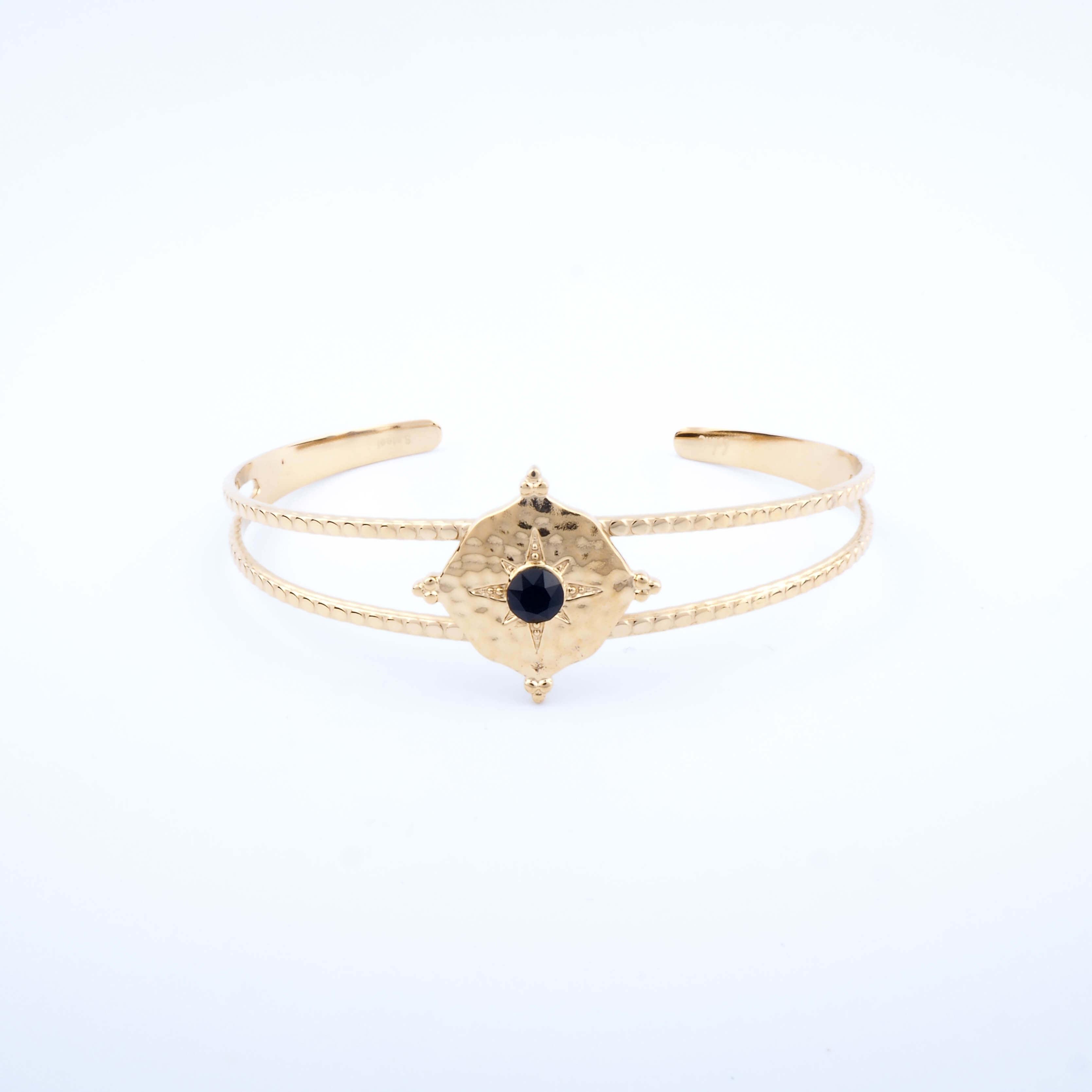 Bracelet jonc Loulita noir - Bohm Paris