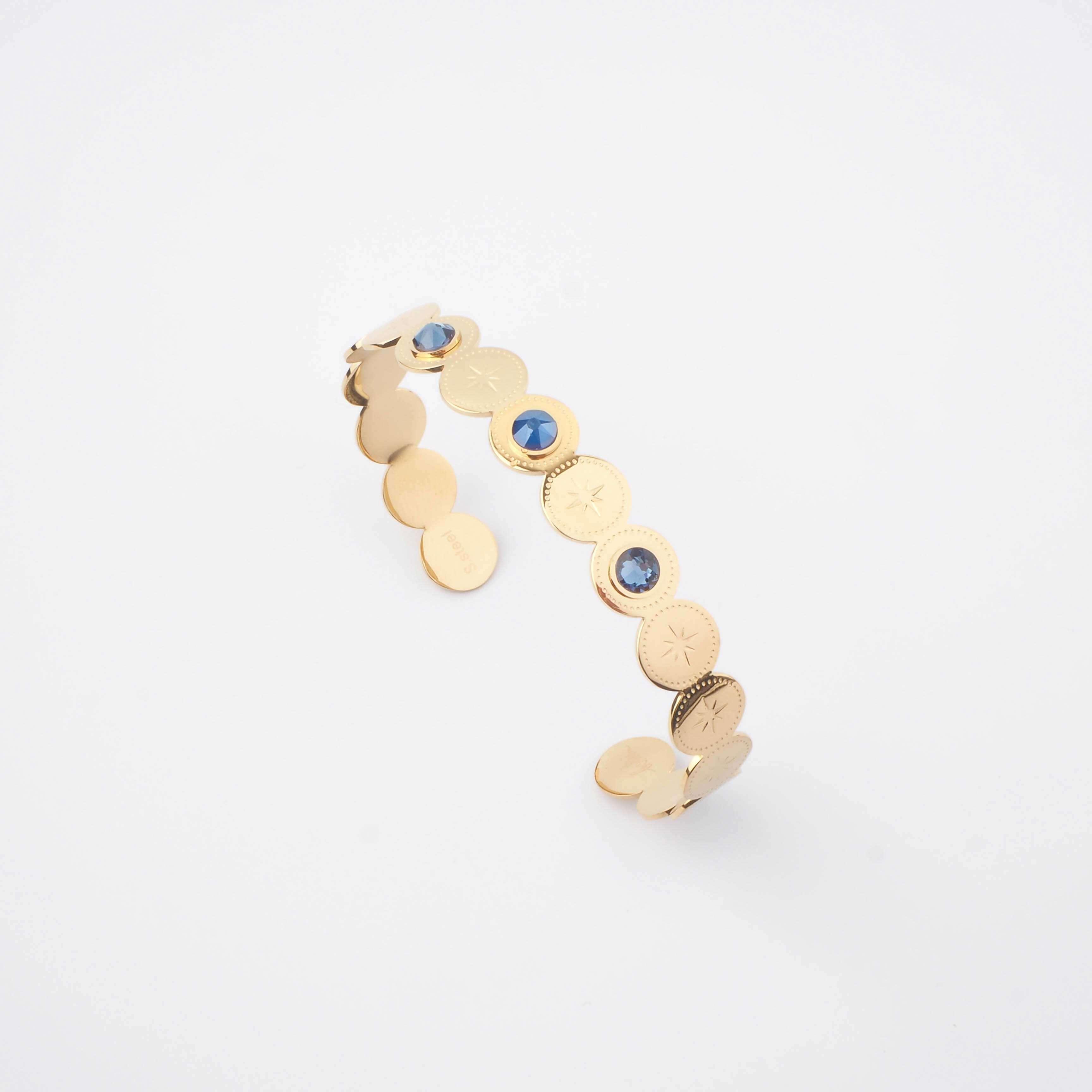 Bracelet jonc Adréline bleu - Bohm Paris