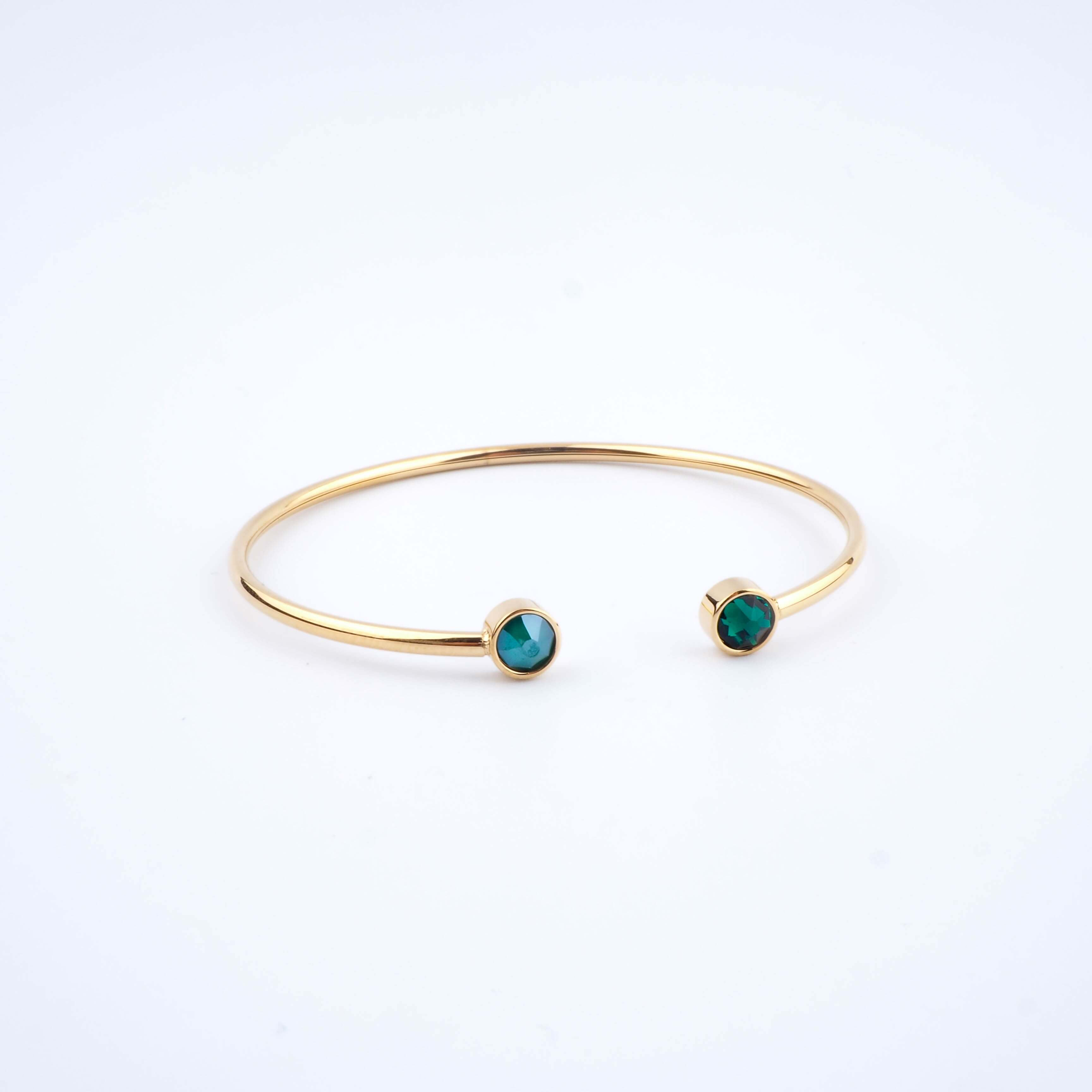 Bracelet jonc Pauline vert - Bohm Paris