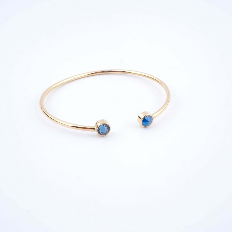 Bracelet jonc Pauline bleu - Bohm Paris