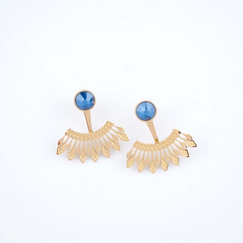 Boucles d'oreilles Maeva bleues - Bohm Paris