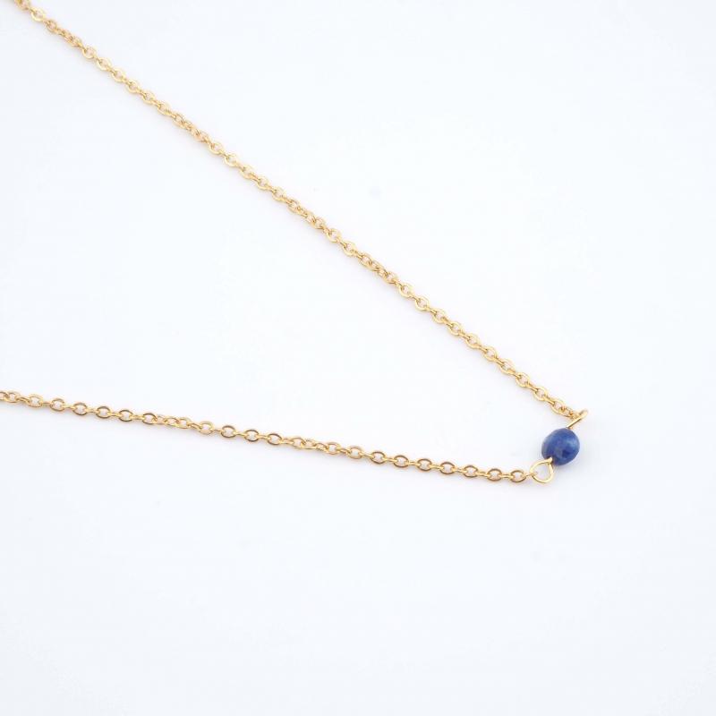Collier Cyrille bleu -...