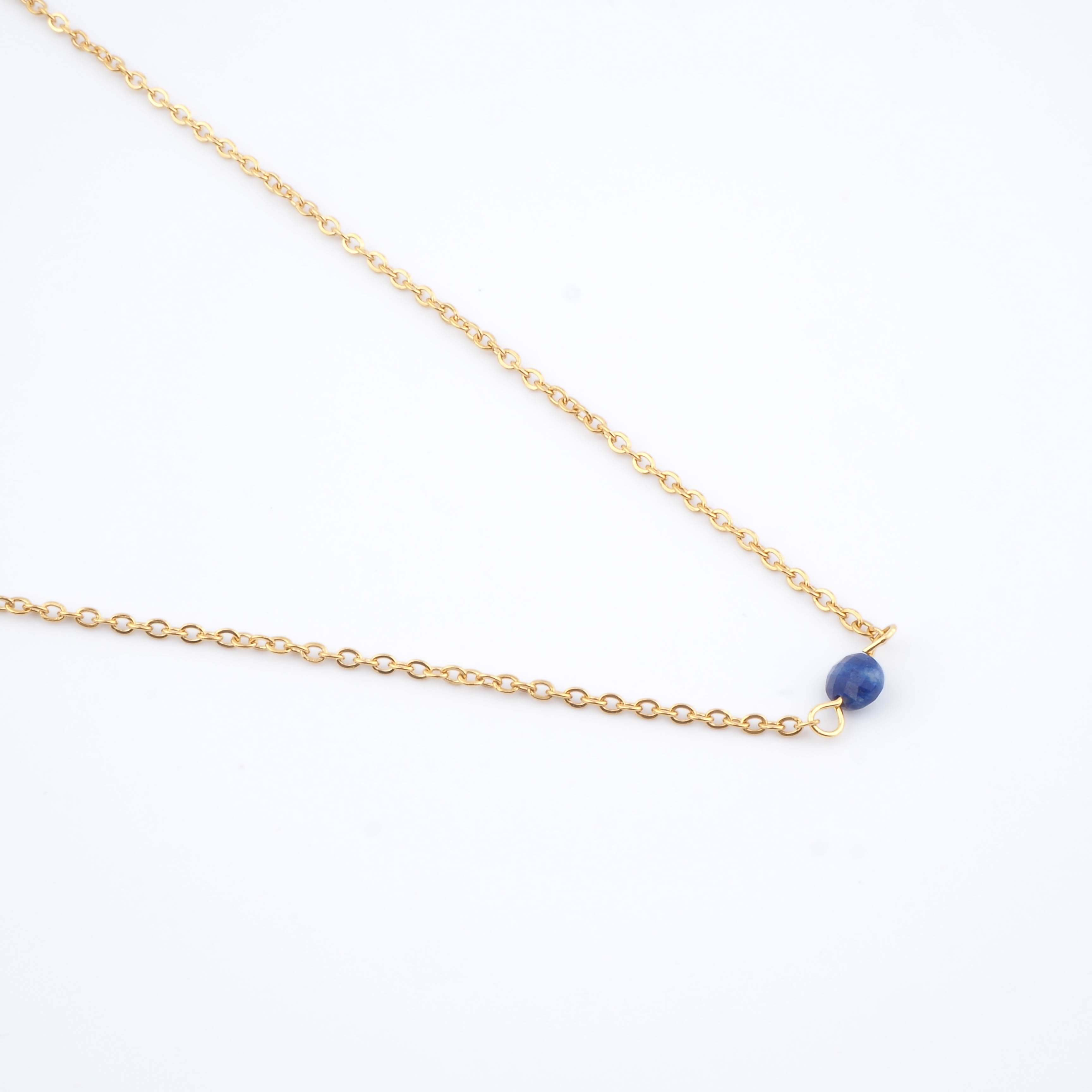 Collier Cyrille bleu - Ginandger Bijoux