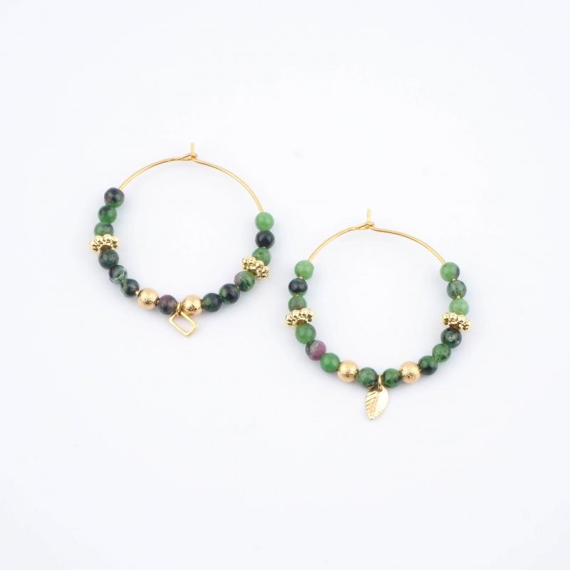 Green Murielle earrings -...