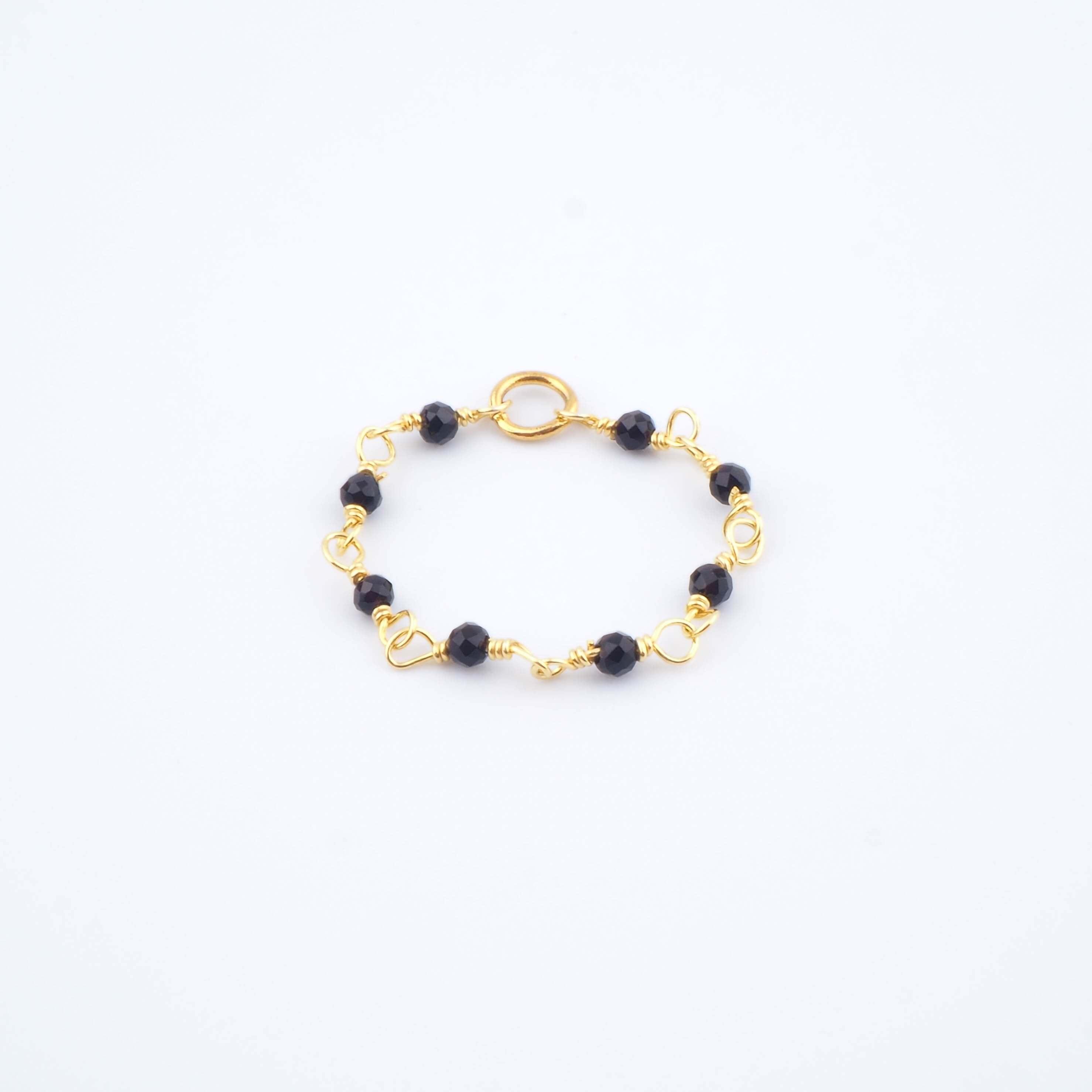 Bague Lya noire - Ginandger bijoux