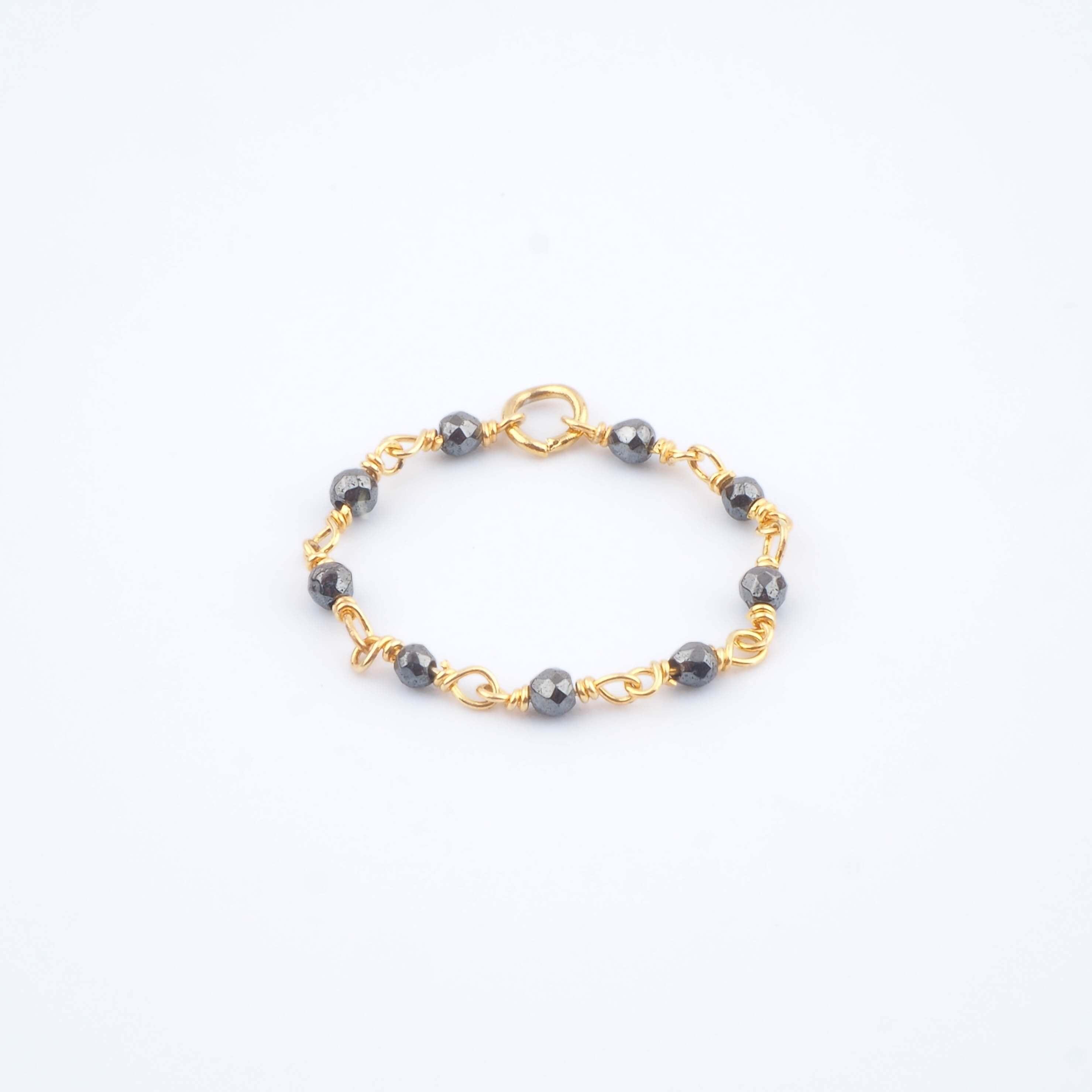 Bague Lya grise - Ginandger bijoux