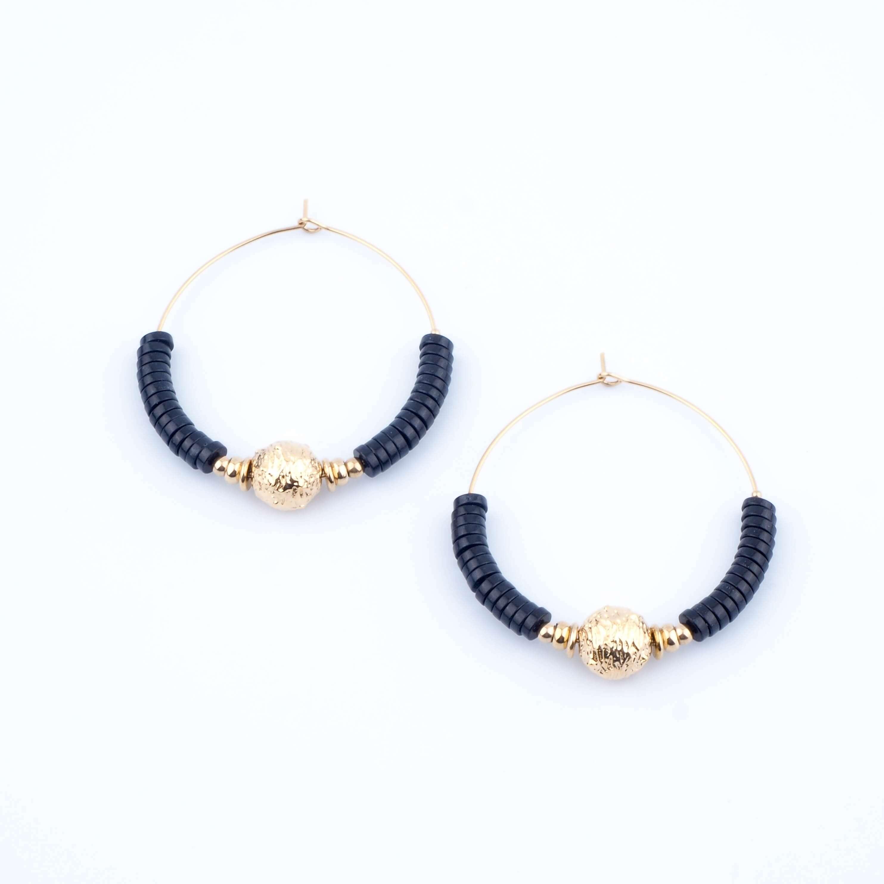 Boucles d'oreilles Sibylle noires - Zag Bijoux