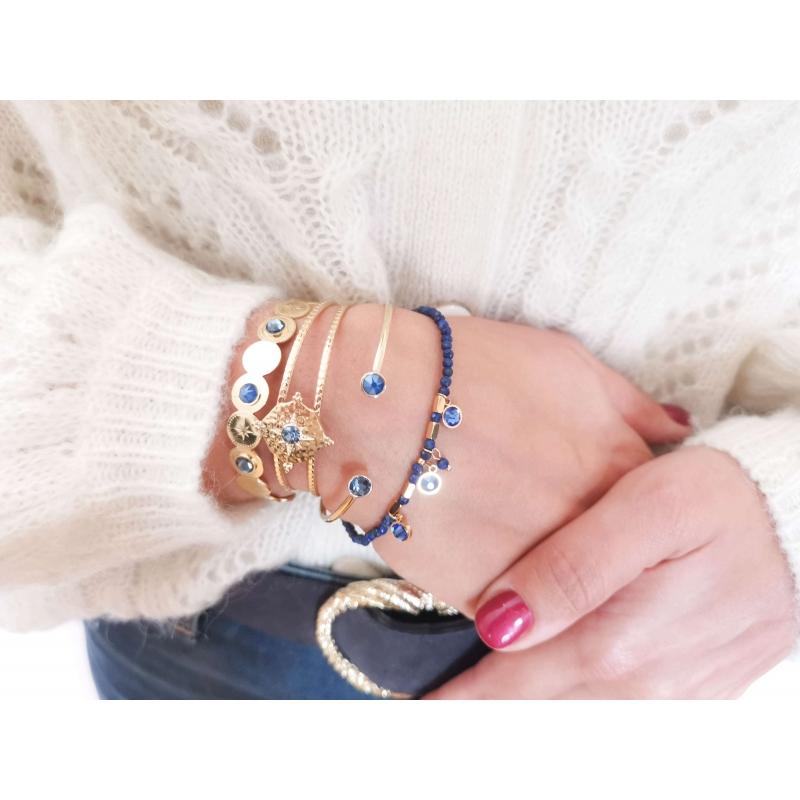 Bracelet jonc Loulita bleu...