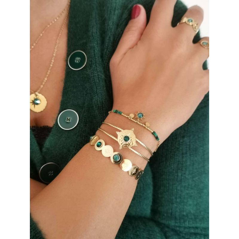 Bracelet jonc Adréline vert...