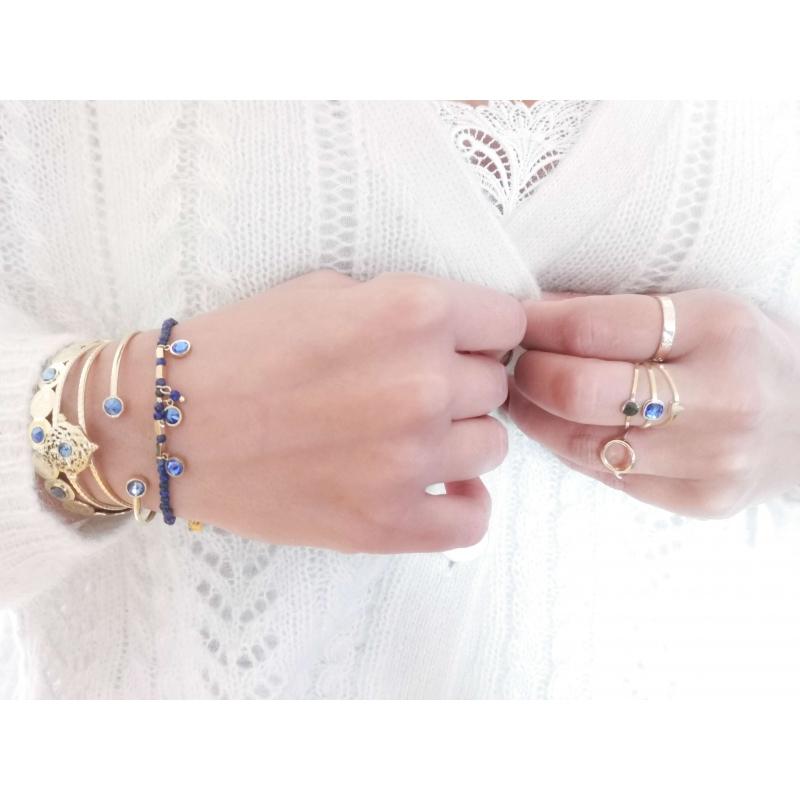 Bracelet jonc Pauline bleu...