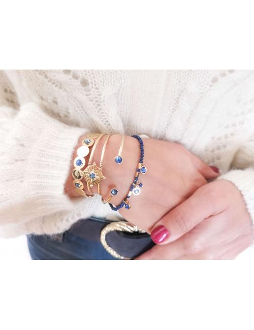 Bracelet Margaux bleu -...
