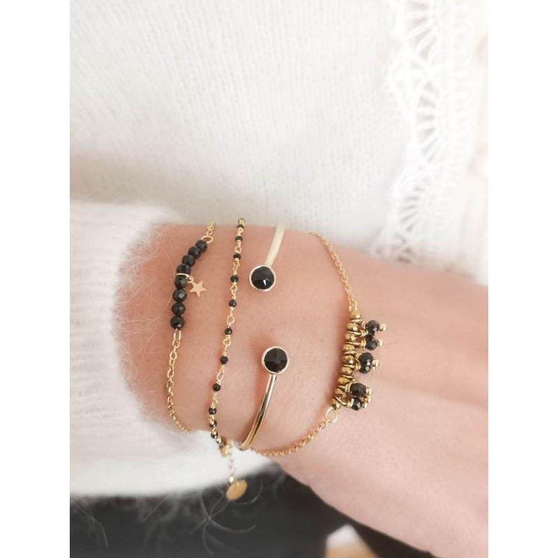 Bracelet Johanna noir -...