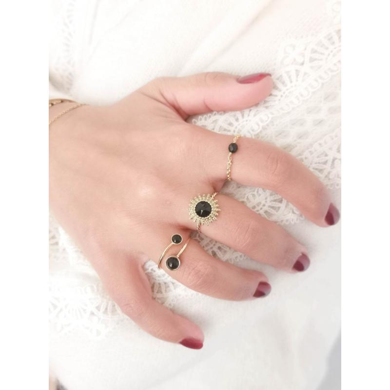 Grey Camelia Ring -...