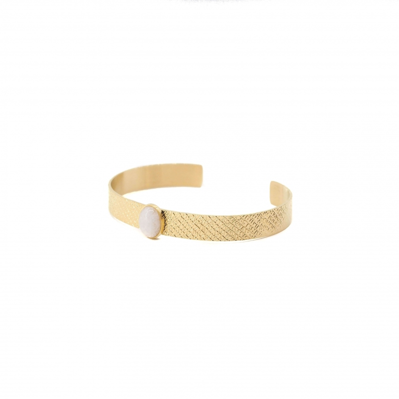 Stone white bangle bracelet...