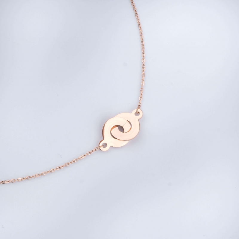 Handcuff rose gold necklace...