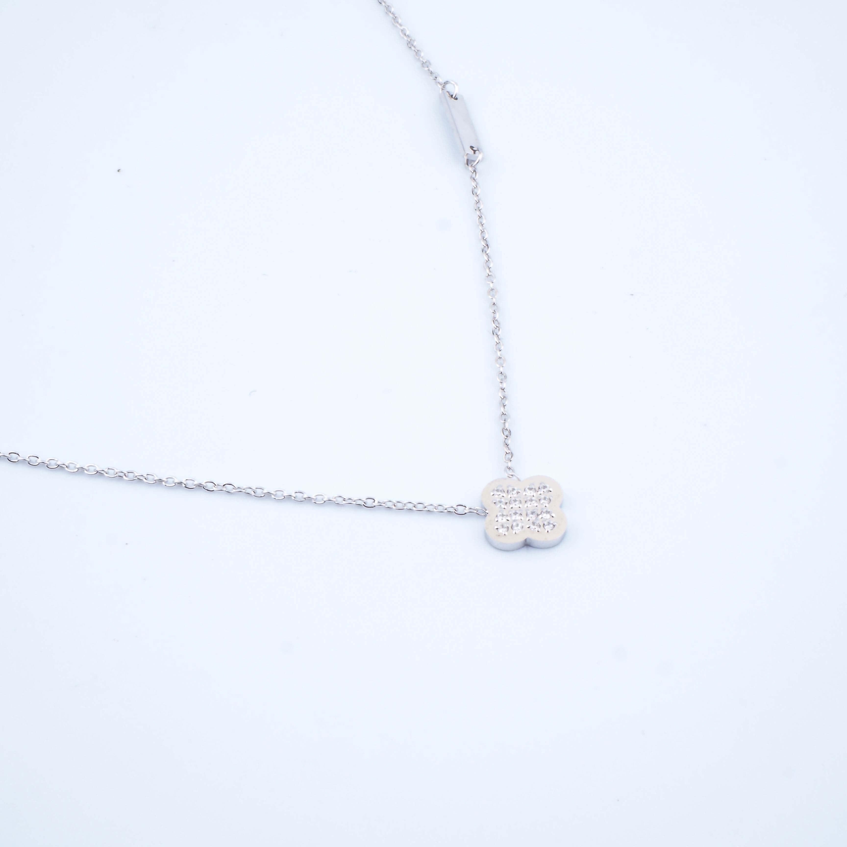 Collier Bonnie strass en acier - Zag Bijoux