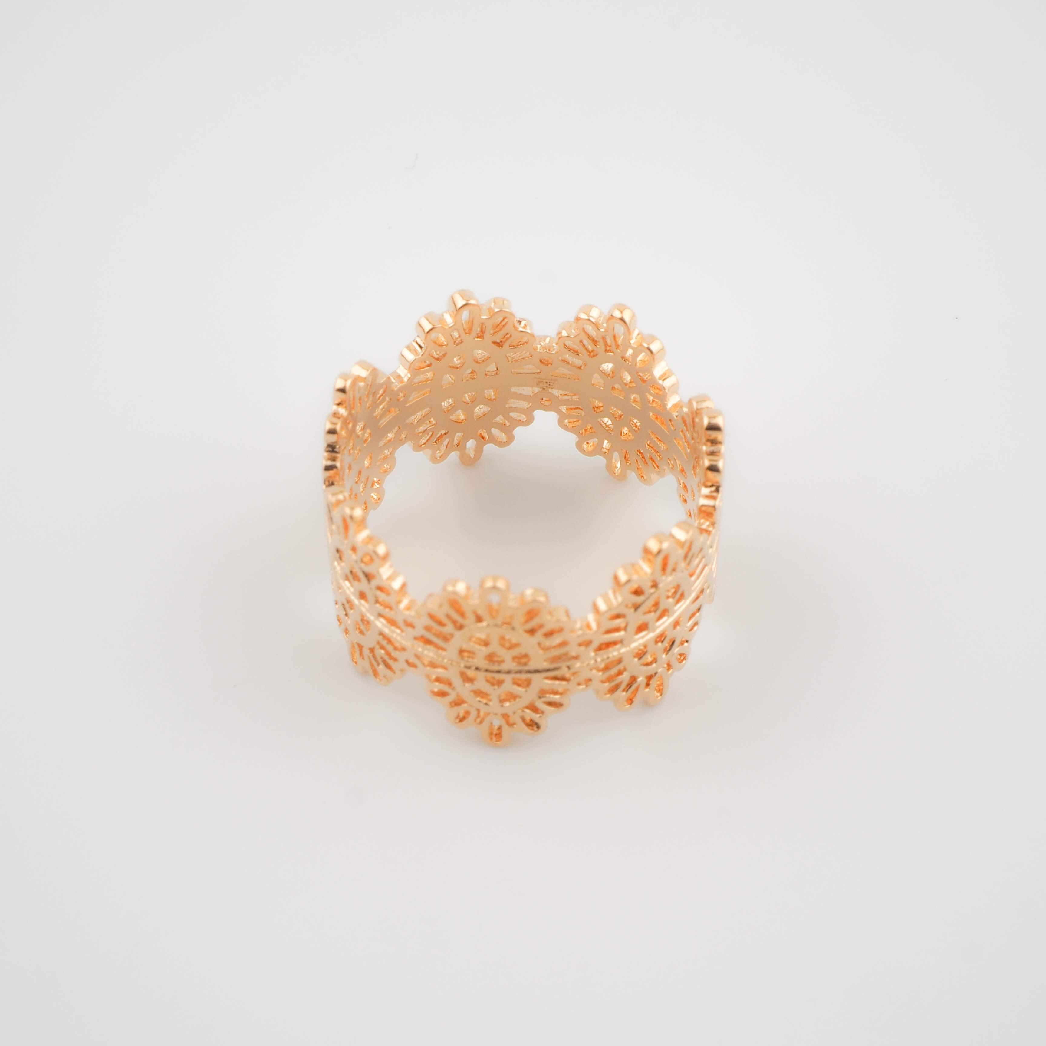 Bague couronne plaqué or - Pomme Cannelle