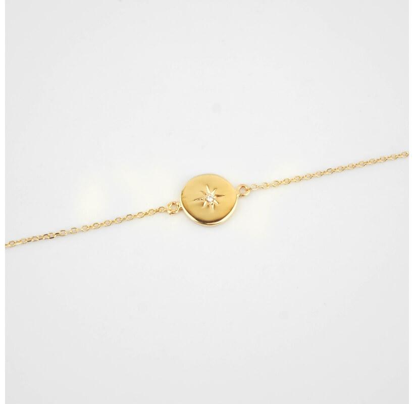 Bracelet céleste plaqué or - Pomme Cannelle
