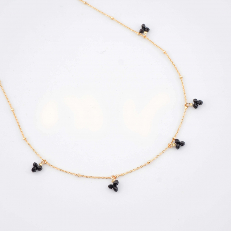 Collier grappe perle black...