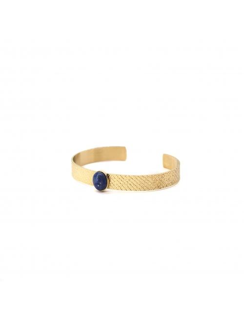 Stone blue bangle bracelet - Zag Bijoux