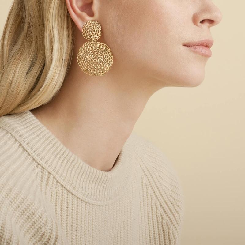 Onde XL gold earrings - Gas...