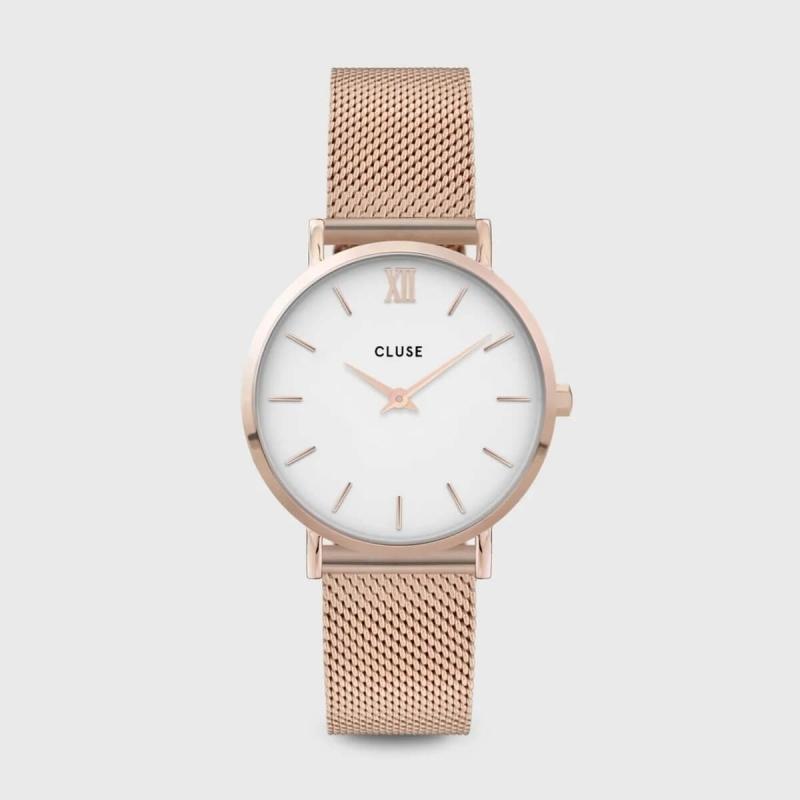 Montre Minuit mesh white...