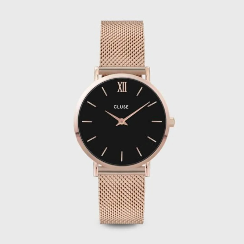 Montre Minuit mesh black...