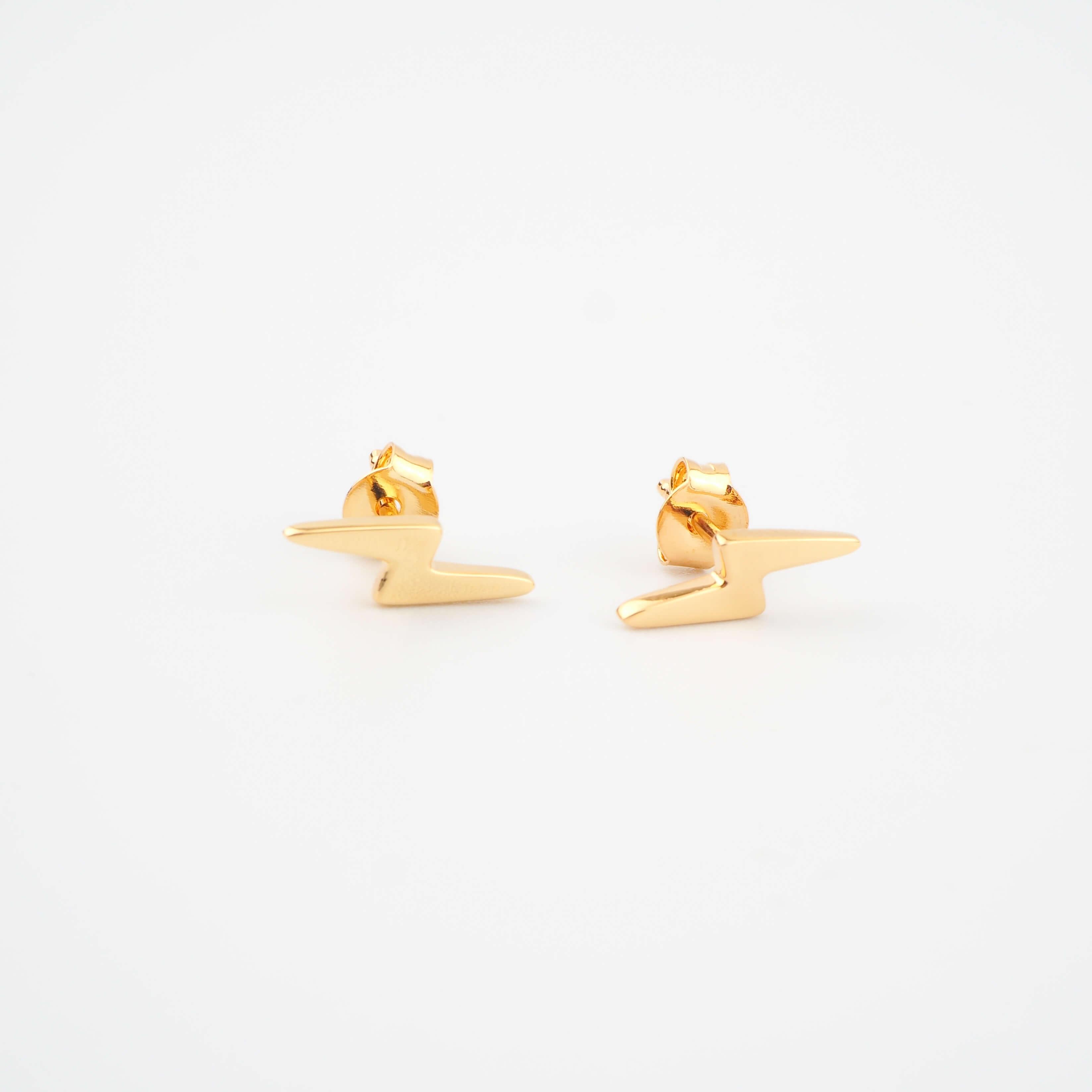 Boucles d'oreilles éclairs plaqué or - Pomme Cannelle