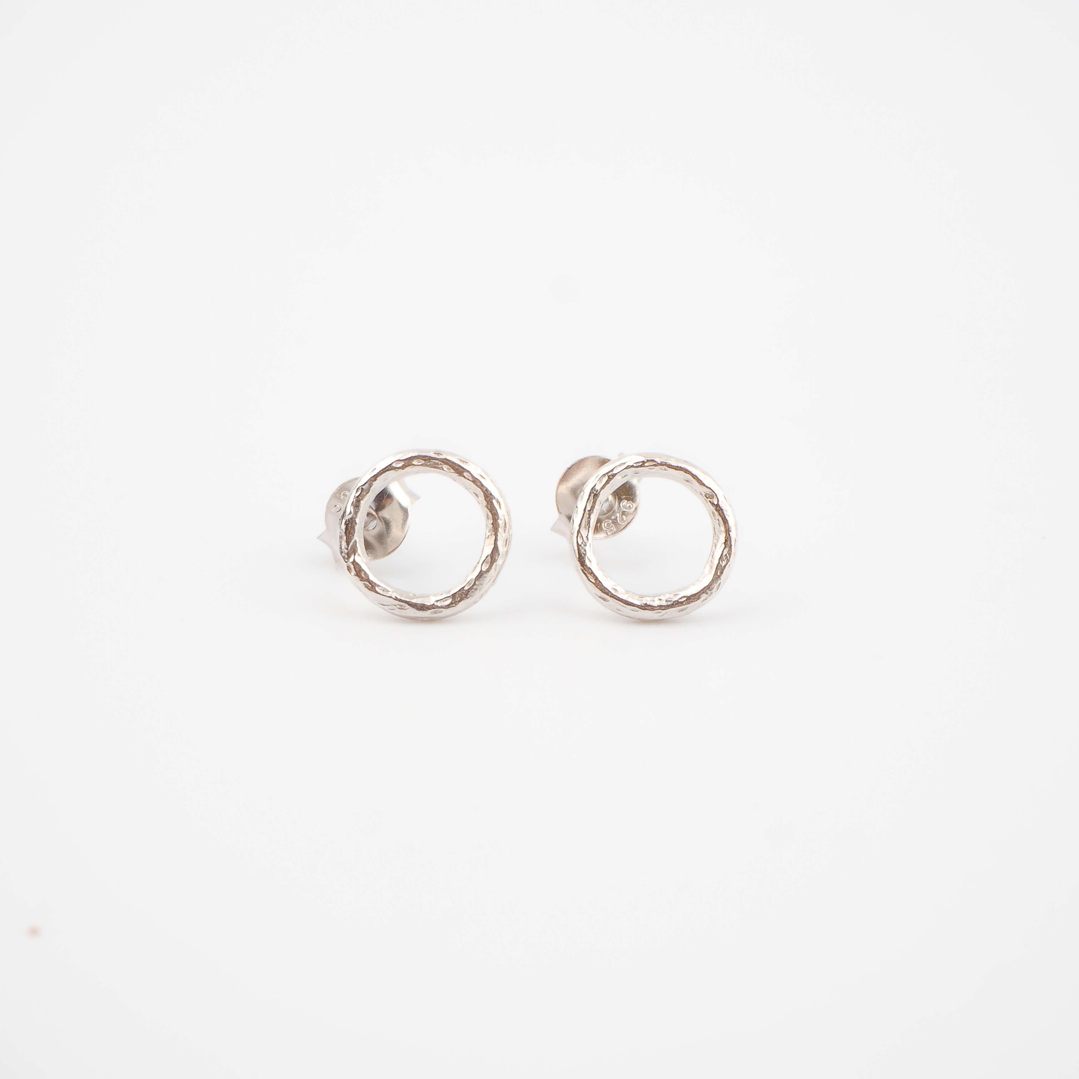Boucles d'oreilles cercles argent - Pomme Cannelle