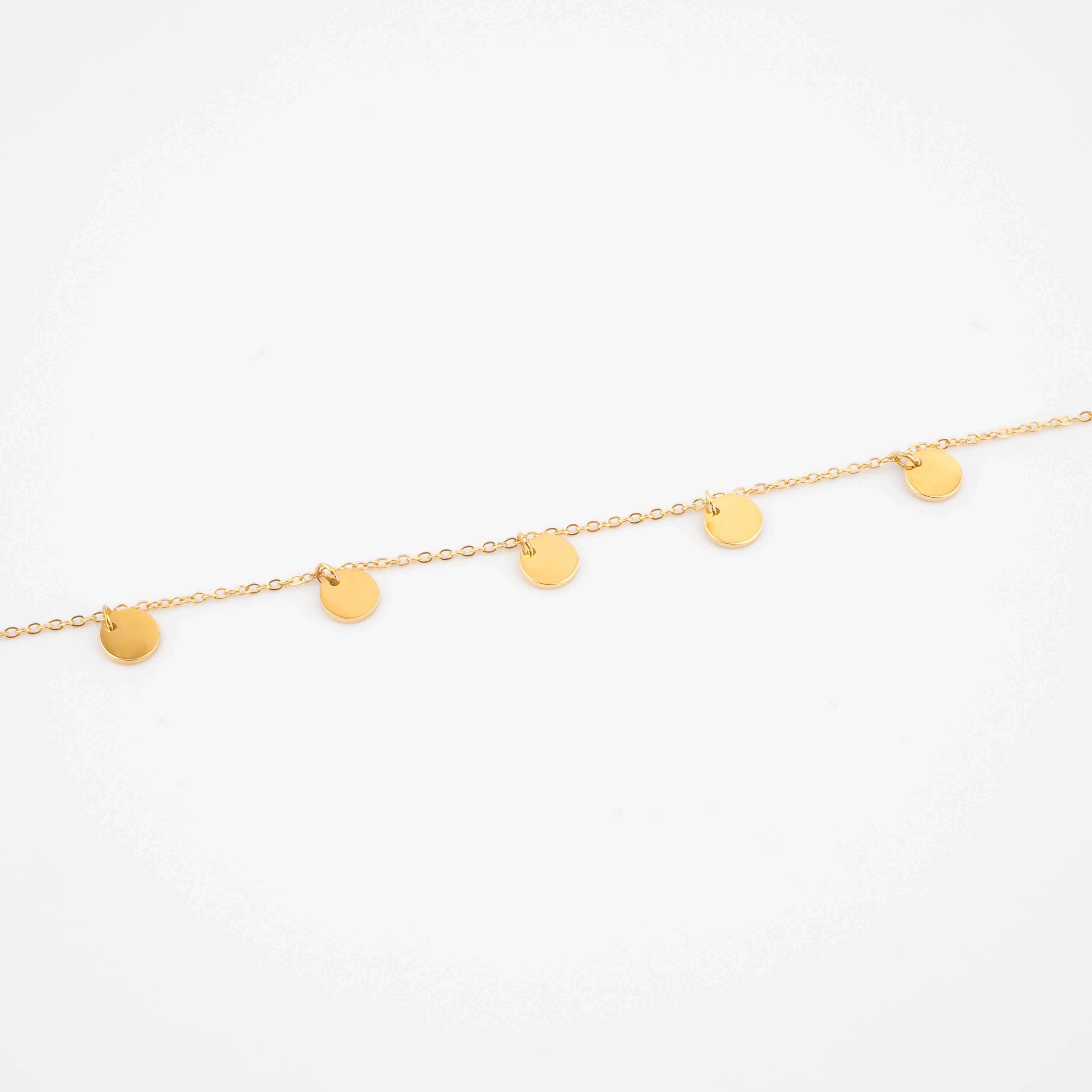 Bracelet multi pastilles en acier jaune - Zag Bijoux