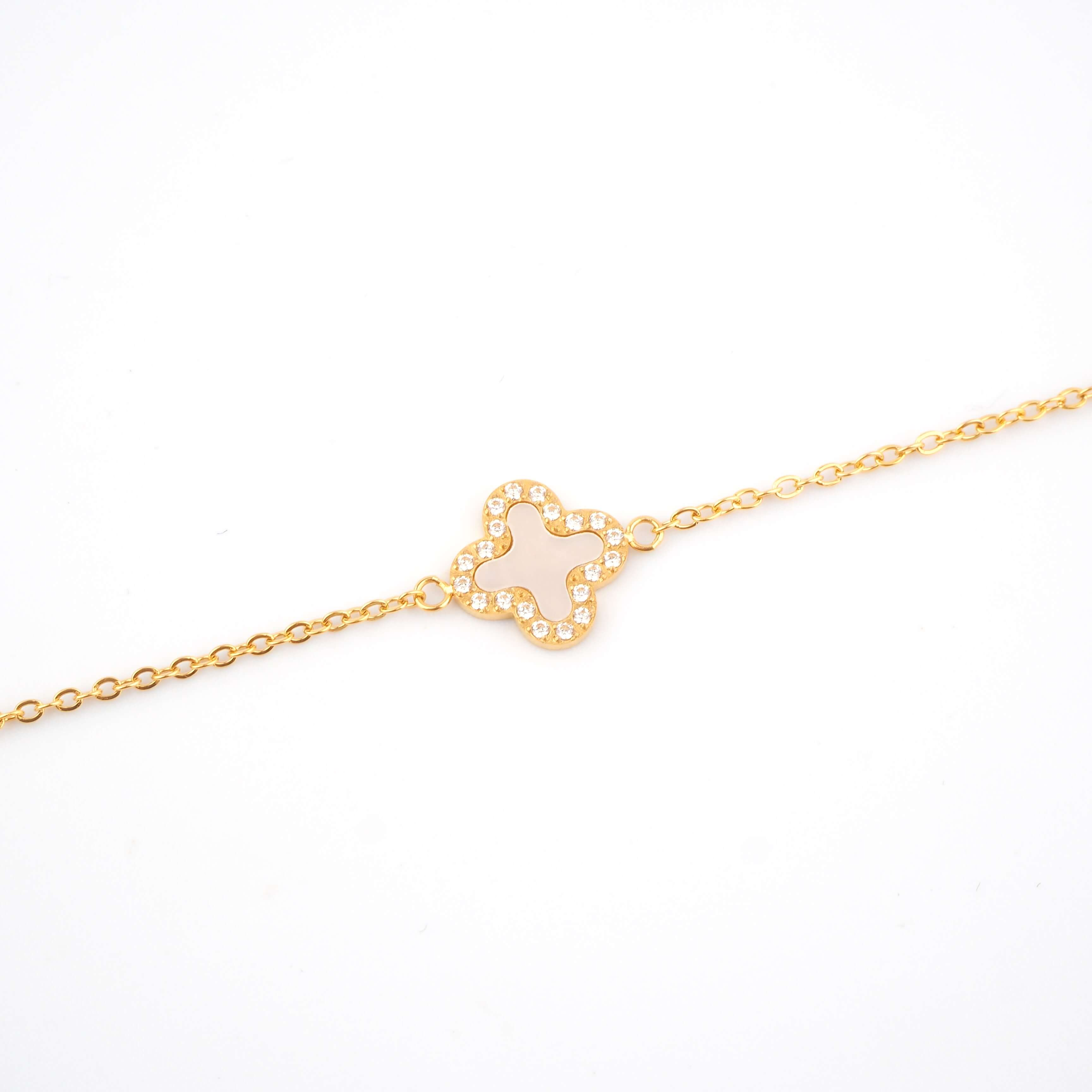 Bracelet Bonnie full nacre en acier jaune - Zag Bijoux