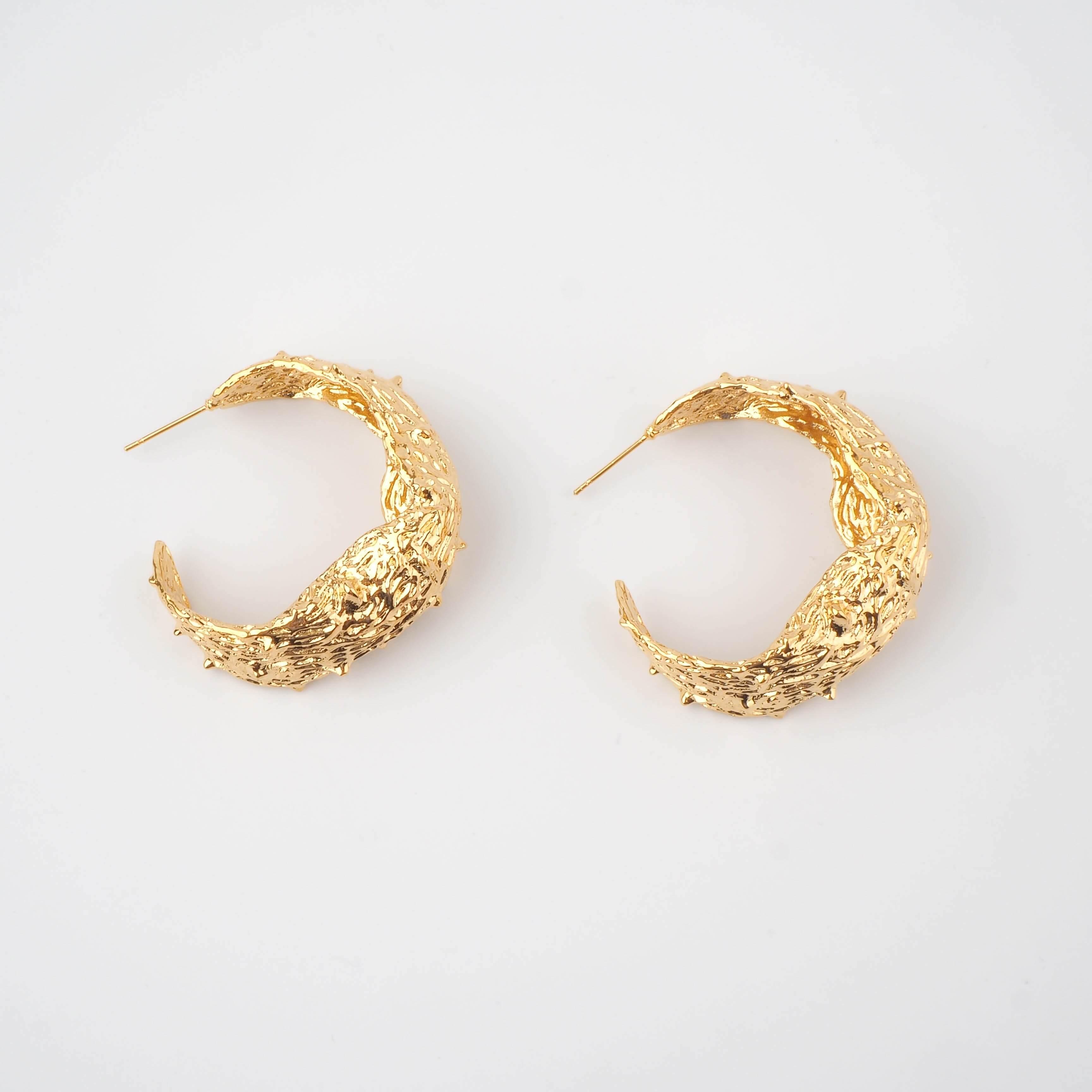 Boucles d'oreilles créoles Leaves - Zag Bijoux