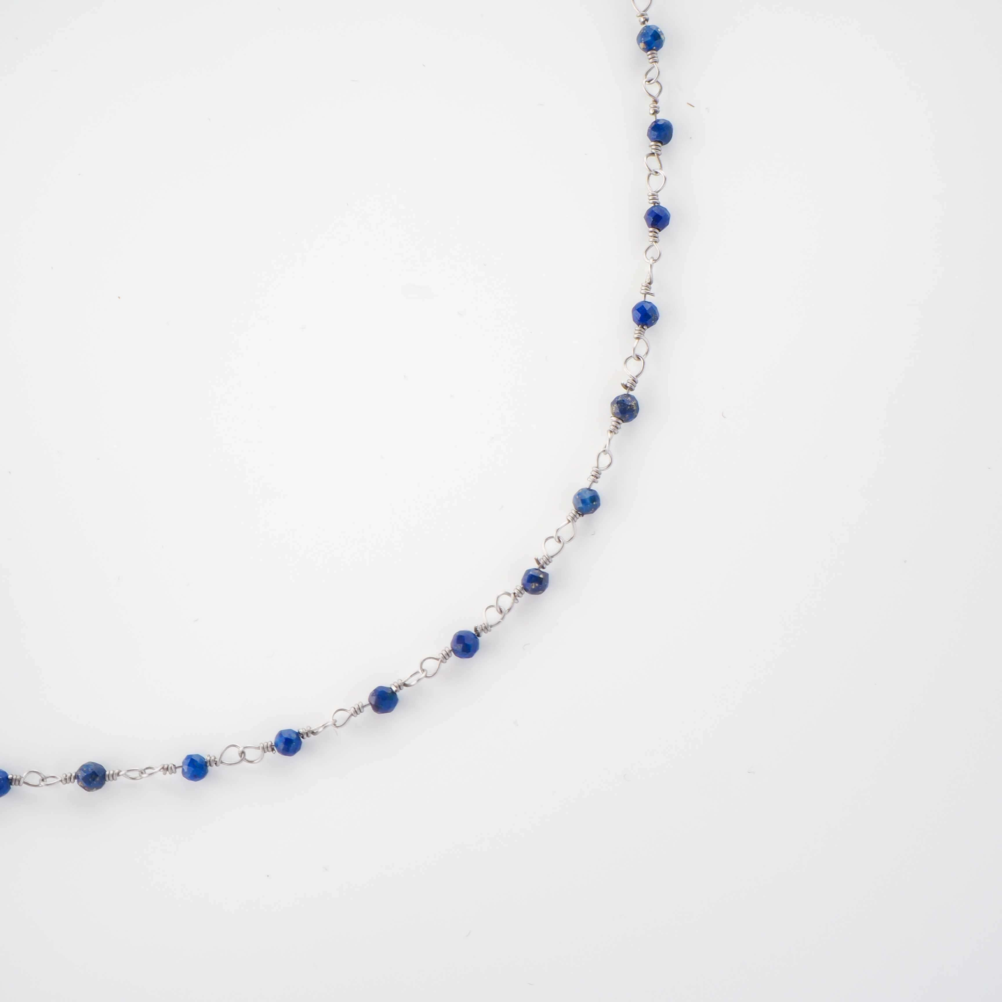 Collier gigi lapis lazuli en acier - Zag Bijoux